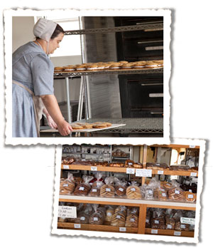 Amish woman baking